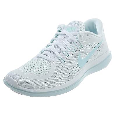 sports shoes 12979 257af NIKE Women's Flex 2017 RN White/Glacier Blue-Blue Tint Running Shoes (9.5 B  US)