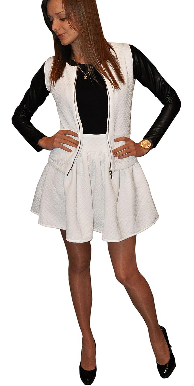 1fc265ccbead1 Carino Bello ed Elegante Cardigan Bolero da Donna Ragazazza Giacca  trapuntata con Zip e Maniche in ingrandisci