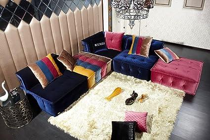 Amazon.com: Divani Casa Dubai - Contemporary Fabric Sectional Sofa ...