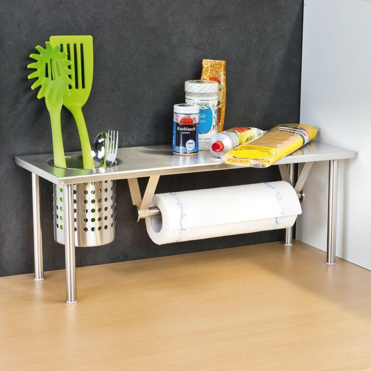 bremermann® Küchenregal mit Rollenhalter und Utensilienhalter ...