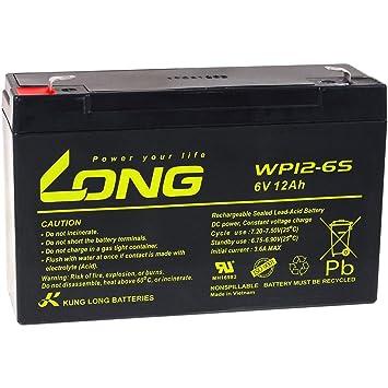 Powery KungLong Batería de Reemplazo para Coche de Niño Vehículo ...
