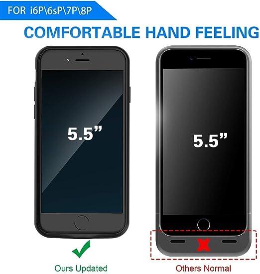 Amazon.com: Funda con batería para iPhone 7 de 5,5 pulgadas ...