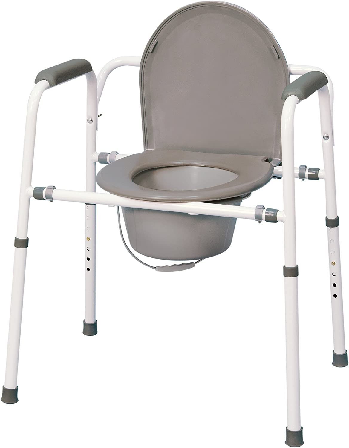 MedPro Homecare Commode Chair with Adjustable Height