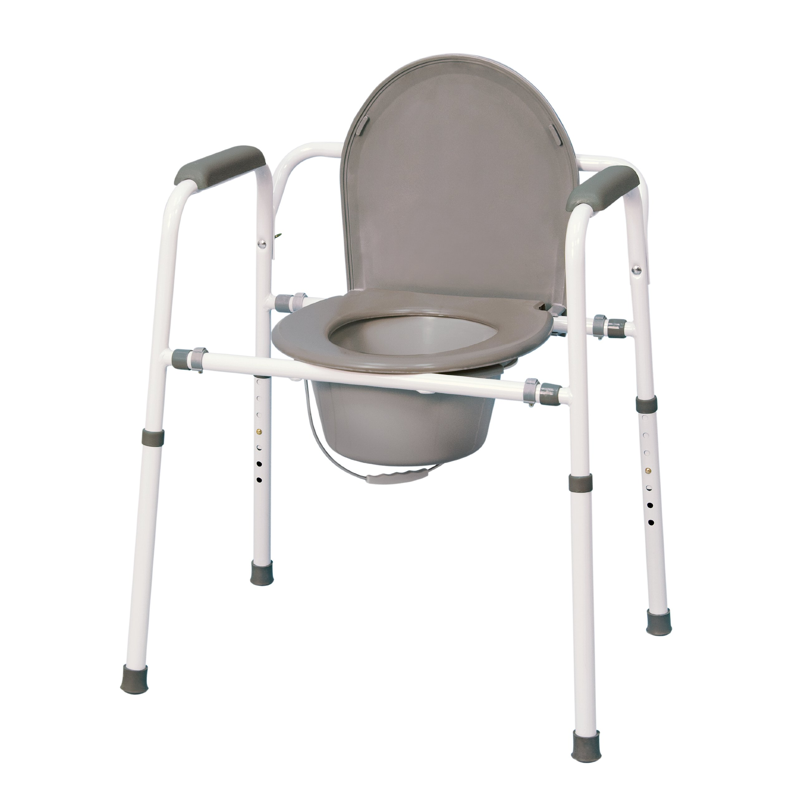MedPro Homecare Commode Chair with Adjustable Height by MEDPRO