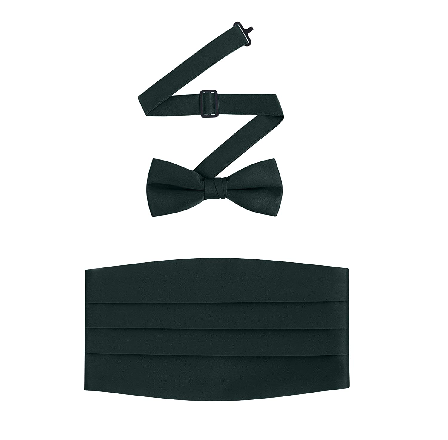 Men's Formal Satin Bowtie and Cummerbund Set - Many Colors Available By S.H Churchill 105CT-01