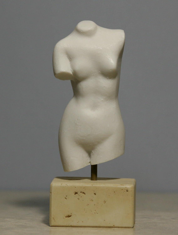 Erotic Naked Nude Female Woman Body Torso Alabaster Statue Sculpture Decor: Amazon.co.uk: Kitchen & Home