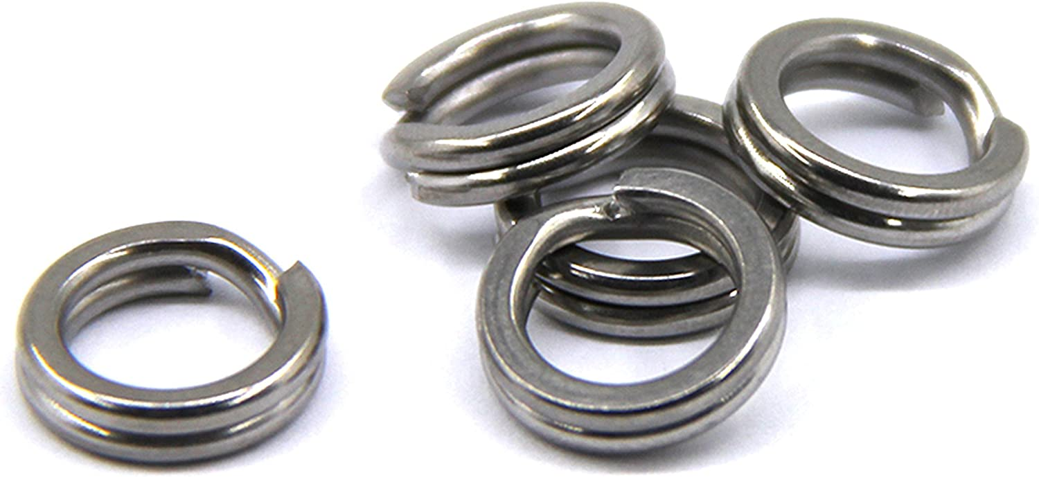 100PC SIZE 6 STAINLESS STEEL SPLIT RINGS JEWELRY CONNECTORS//CRAFTS /& LURES