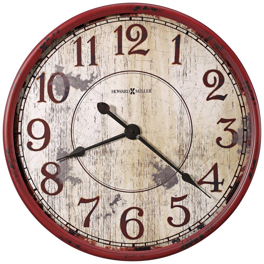 Amazon howard miller 625 598 back 40 wall clock home kitchen amipublicfo Gallery