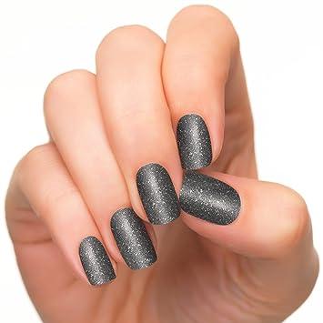Amazon.com : Incoco Nail Polish Strips, Black Silver Glitter, Best ...