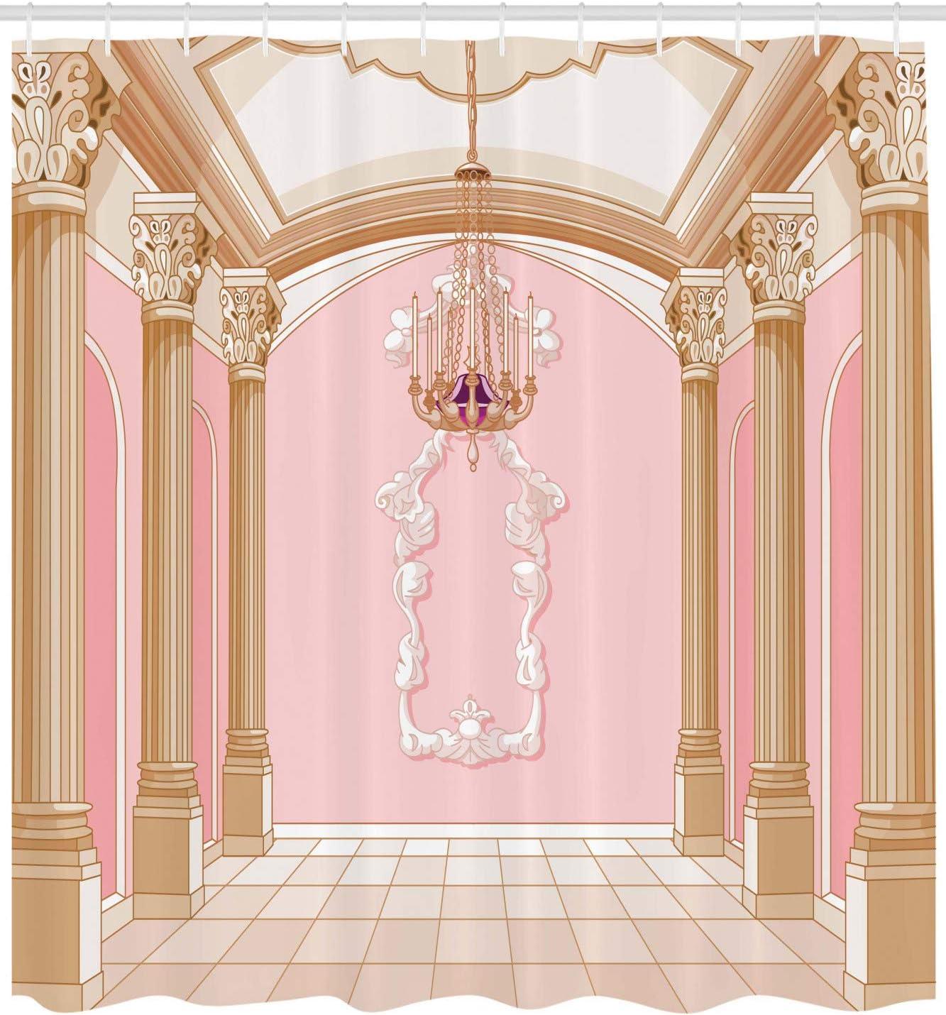 Cortina de ducha decorativa para adolescentes, diseño de castillo ...