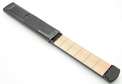 Guitarra acústica portátil de bolsillo, práctica herramienta para practicar