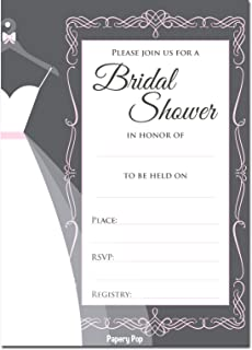 Amazon hallmark bridal shower invitations 16 set kitchen 30 bridal shower invitations with envelopes 30 pack wedding shower invitations grey filmwisefo