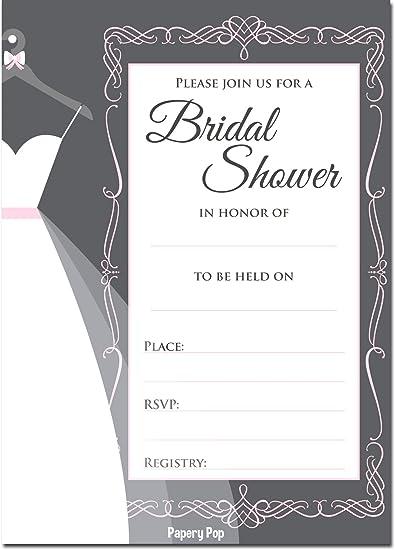 Amazoncom 30 Bridal Shower Invitations with Envelopes Wedding
