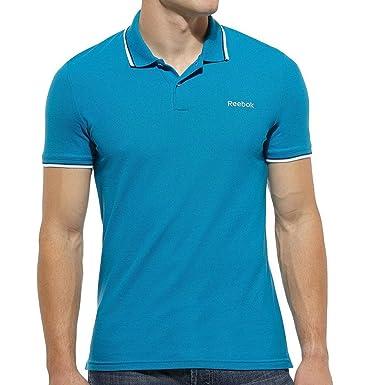 Reebok - Polo - para Hombre Azul Azul Large: Amazon.es: Ropa y ...