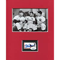 $109 » Stan Musial Rare Signed Autograph Photo Display W Mickey Mantle Ted Williams - JSA Certified - Autographed MLB Photos