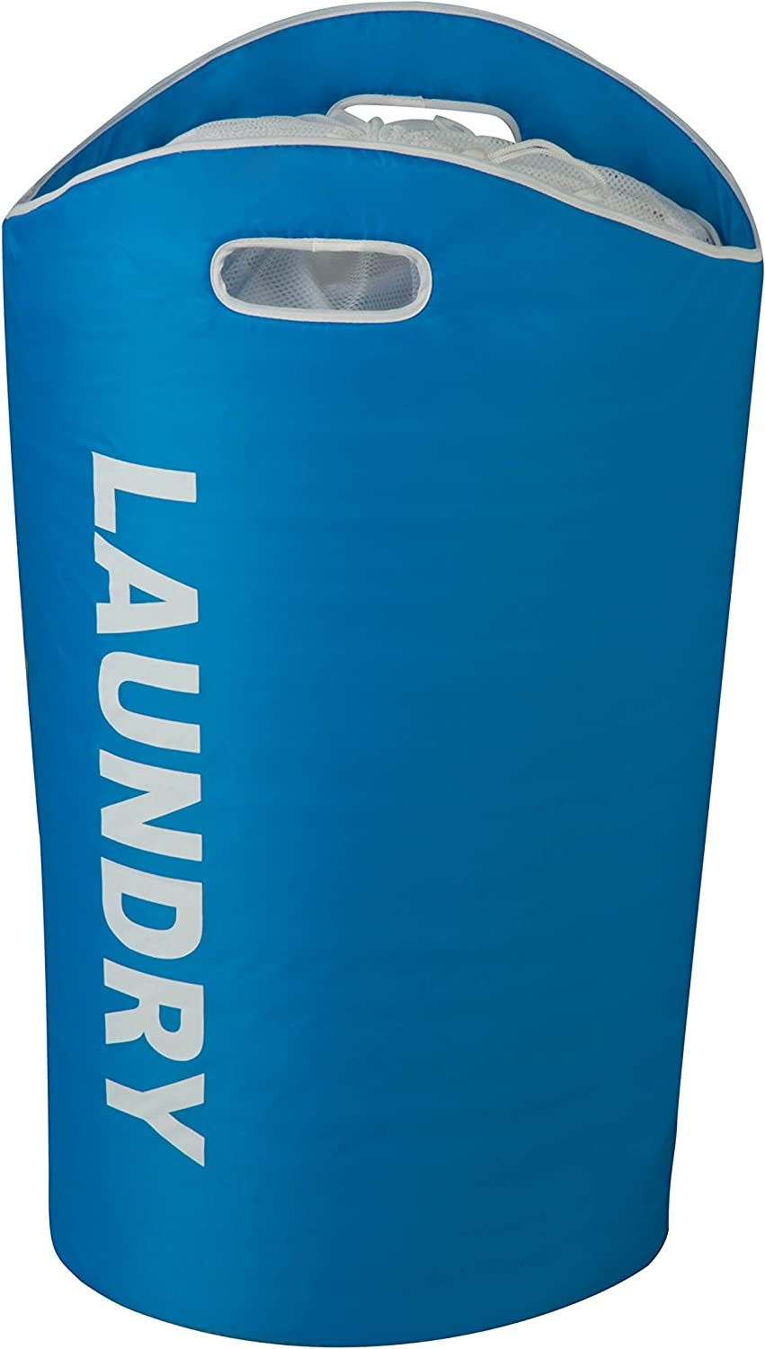 Honey-Can-Do HMP-03544 Laundry Tote, 23 L x 14 W x 26.8 H, Blue