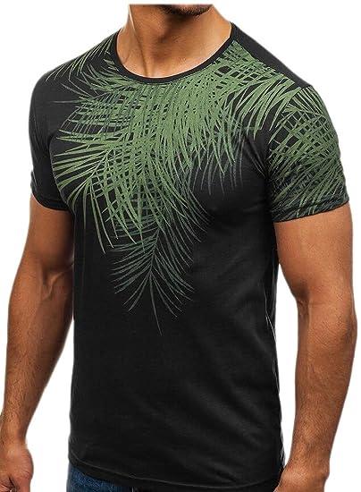 7ff7248b8fcc Amazon.com  Generic Mens Summer Short Sleeve Flroal Print Cotton T ...