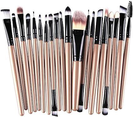 kolight 20 Brochas de Maquillaje Pro Set Polvos Base Sombra de ...