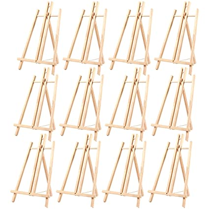 12 Pack Of Tabletop Easels   Wood Easel, Mini Easels For Tabletop Painting,