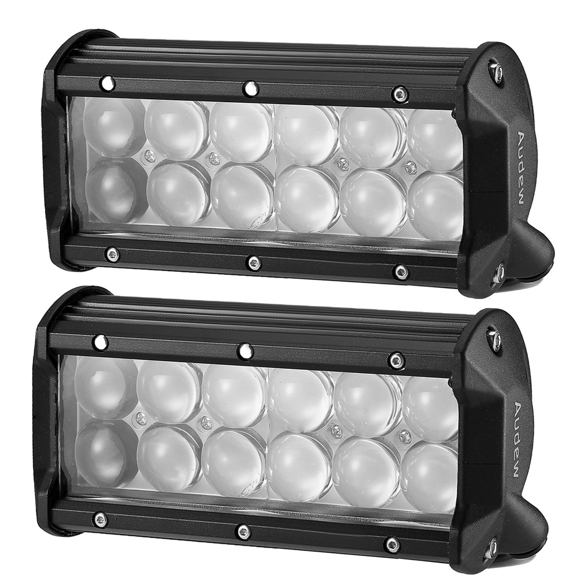 AUDEW 2PCS 36W LED Light Bar Spotlight LED Work Light 6.5 inch 4D PC Lens 3600LM IP68 for Truck Jeep Off-Road ATV 4WD 4x4 SUV