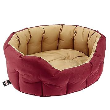 Classic Mascota Productos Sleepy Patas Extra Fuerte Resistente al Agua Deluxe Perro Cama, pequeño, Burgundy/Sand: Amazon.es: Productos para mascotas