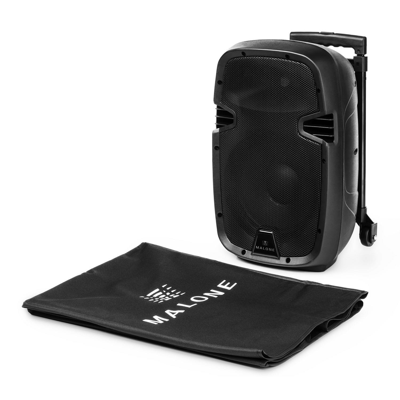 Malone Bushfunk 20 altavoz activo port/átil 400 W, bluetooth, micr/ófono, bater/ía, puerto USB, entrada SD, salida RCA, reproductor MP3, micro receptor integrado VHF, carcasa