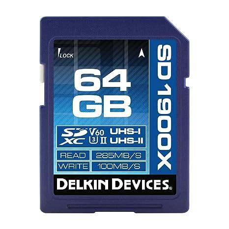 Dispositivos Delkin 64 GB Tarjeta de Memoria SDXC 1900 x UHS ...