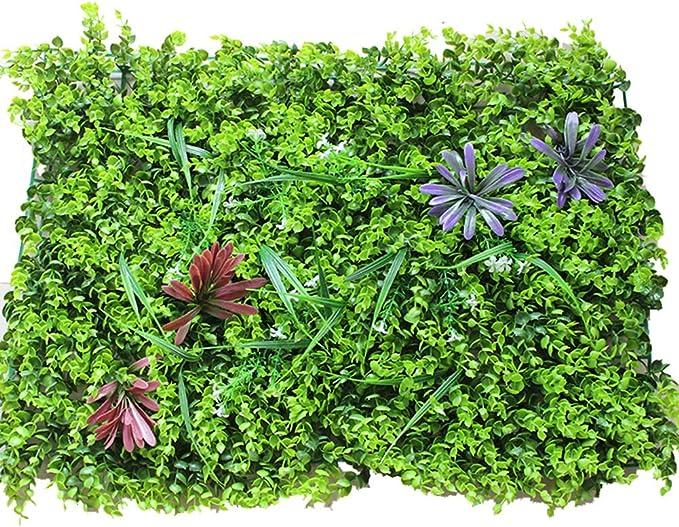 2 Cercas De Eucalipto Artificial, (60 Cm × 40 Cm) Césped Tiras De Imitación Verdor Pantallas De Privacidad Fondo Verde Contexto Plástico Jardín Cerramiento Falso Estera Panel Enrejado Pared Decorati,Green: Amazon.es: Hogar
