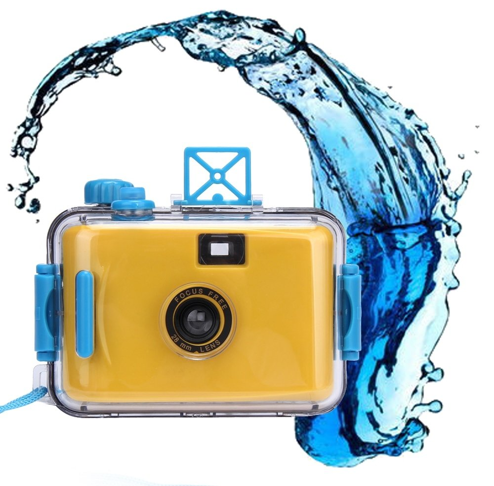 Fullkang Underwater Waterproof Mini 35mm Film Automatic Miniature Camera Purple Yellow
