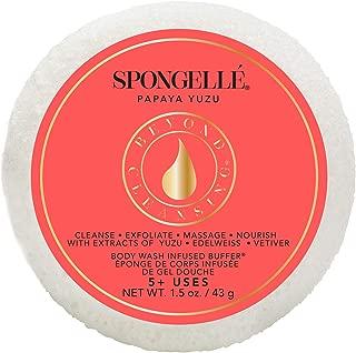 product image for Spongellé Travel Size Spongette - Body Wash Infused Bath/Shower Sponge - Papaya Yuzu