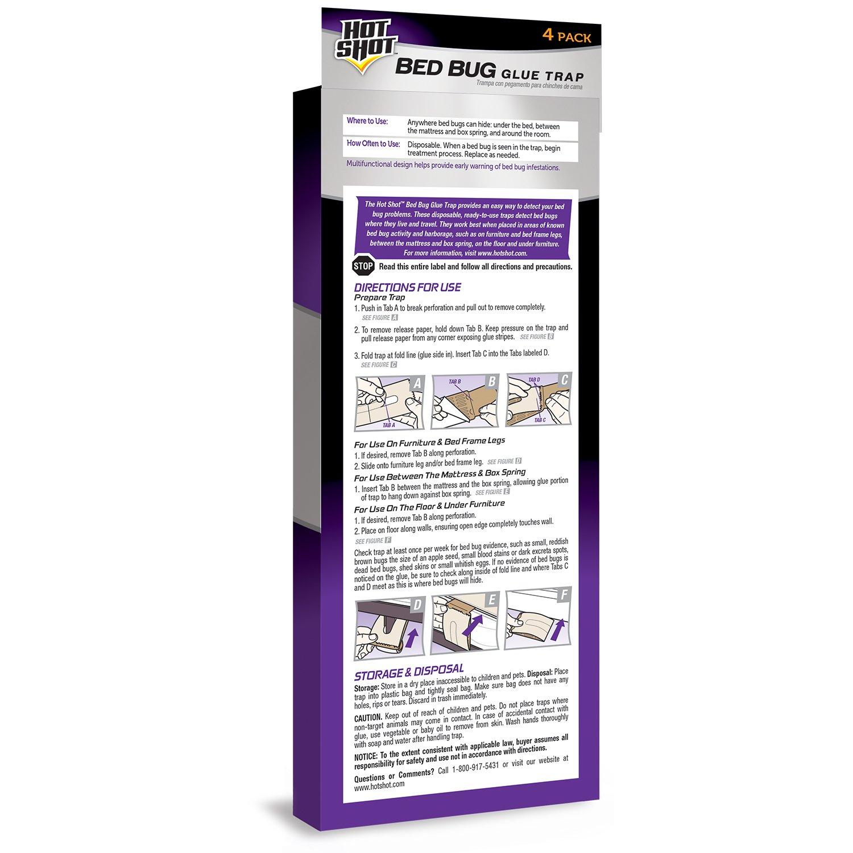 5ce27c6e3 Amazon.com : Hot Shot Bed Bug Glue Trap, 4-Count : Garden & Outdoor