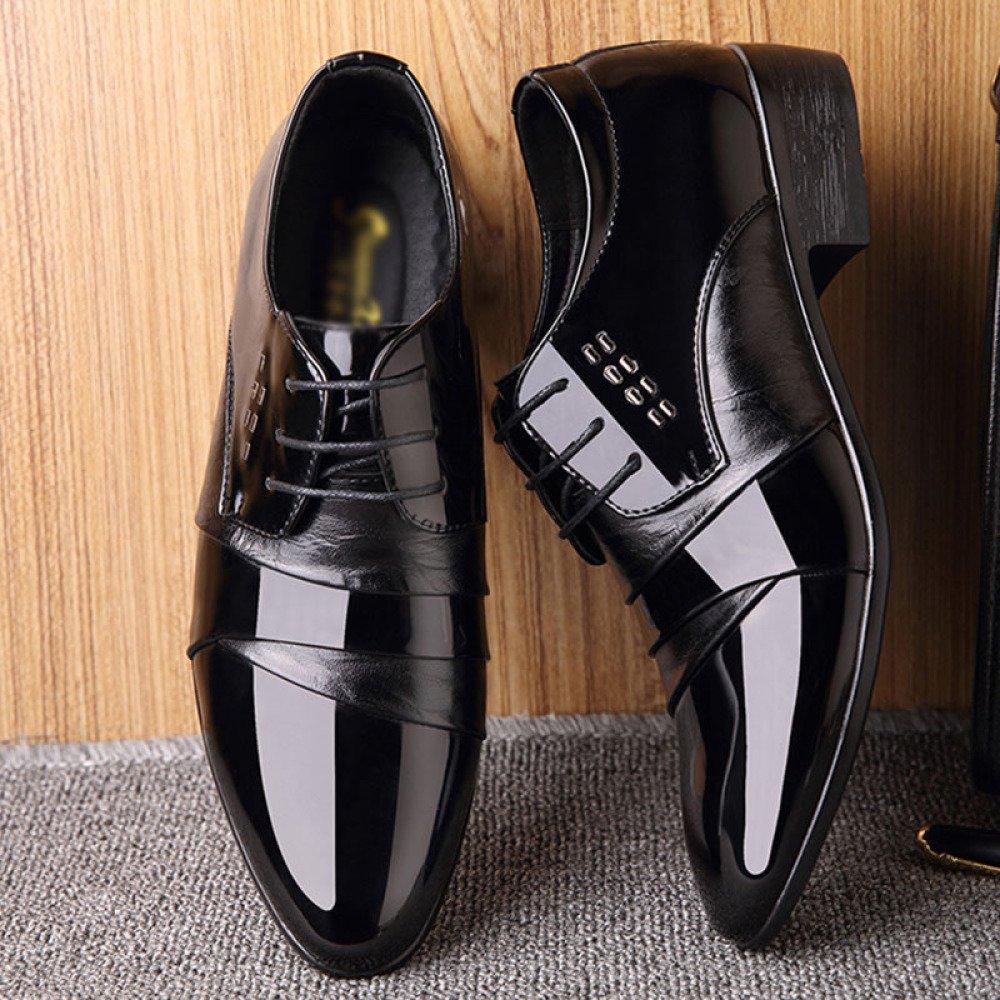 Herren Lace-ups Formelle Kleid Schuhe Für Männer Mit Derby Runde Kopf Flach Mit Männer Vintage Work Lederschuhe schwarz c88feb
