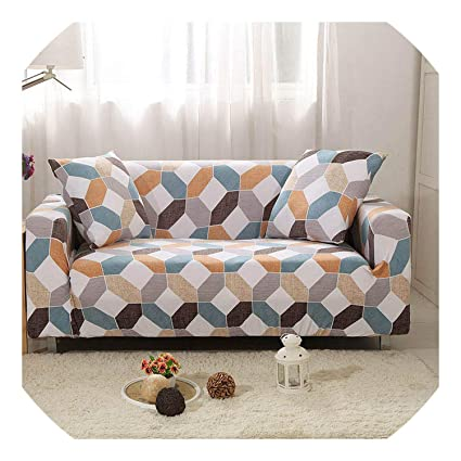 Amazon.com: shine-hearty Stretch Sofa Cover Elastic funda ...