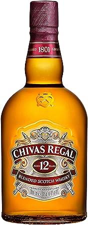 Chivas Regal 12 años Blended Scotch Whisky 4er Set, Whiskey, Schnaps, Spirituose, Alcohol, Botella, el 40%, 4 x 1 L