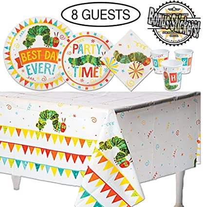 Amazon Com The Very Hungry Caterpillar Birthday Party Supplies 49