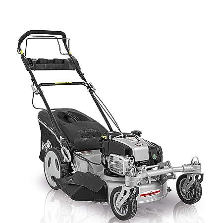 Grizzly Benzin Rasenmäher BSA56 Q 360, Elektrostart, Selbstantrieb, 2 bewegliche Vorderräder, 56 cm Schnittbreite, Briggs Str