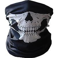 Angelia Call of Duty Negro Skull Face Mask Tubo Cuello Gaiter Dust Shield Seamless Balaclava Bandana