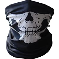 Angelia Call of Duty Negro Skull Face Mask Tubo Cuello Gaiter Dust Shield Seamless Balaclava Bandana