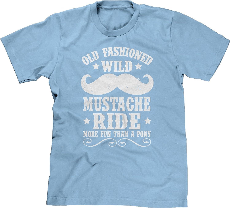 Blittzen Mens T-shirt Old Fashion Wild Mustache Ride