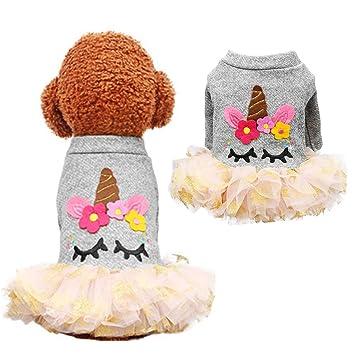 Supfirefly - Vestido de Halloween para Mascotas, Disfraz de Unicornio de Cosplay, para Perros y Gatos: Amazon.es: Productos para mascotas
