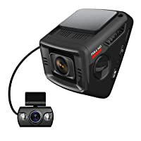 ITRUE X6D Dual Car Dash Cam Pro Stealth Full-HD 1080P 170°Wide Angle, Night Mode, G-Sensor, WDR, 16GB MicroSD Card and Hard Wire Kit