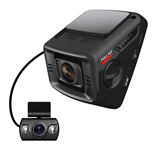 ITRUE X6D Dual Car Dash Cam Pro Stealth Full-HD 1080P 170°Wide Angle