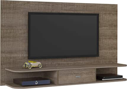 Artely Studio Wall Panel for 55 inch TV, Cinnamon Brown, W 160 cm x D 36.5 cm x H 96cm
