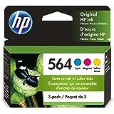 HP 564   3 Ink Cartridges   Cyan, Magenta, Yellow   For HP DeskJet 3500 Series, HP OfficeJet 4600 5500 C6300 6500 7500 Series