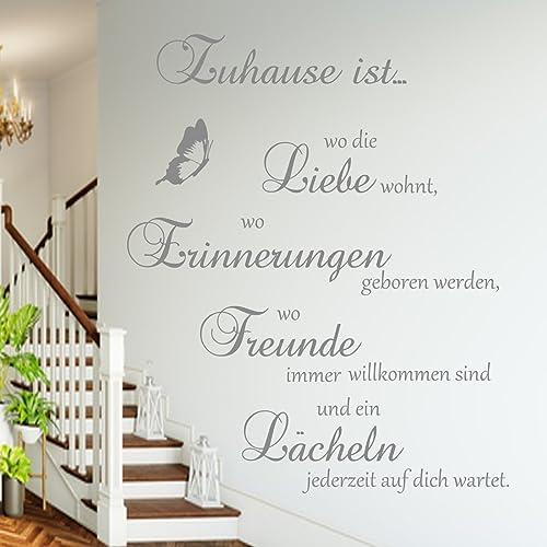 Wandschnörkel Wandtattoo Aa126 Zuhause Ist Wo Die Liebe Wohnt Wo