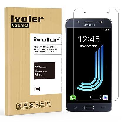 iVoler Protector de Pantalla Compatible con Samsung Galaxy J5 2016, Cristal Vidrio Templado Premium [
