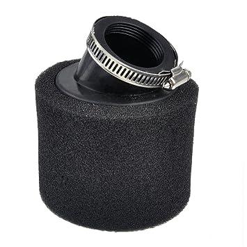 38mm Double Dual Foam Luftfilter Reiniger gewinkelt Fit For ATV Motorrad Pit Dirt Bike 90 110 125ccm