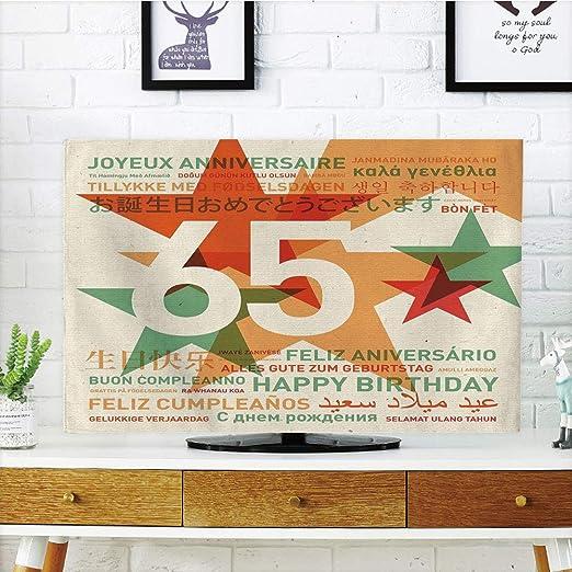 iprint LCD TV Cubierta de Polvo, 60 cumpleaños Decoraciones ...