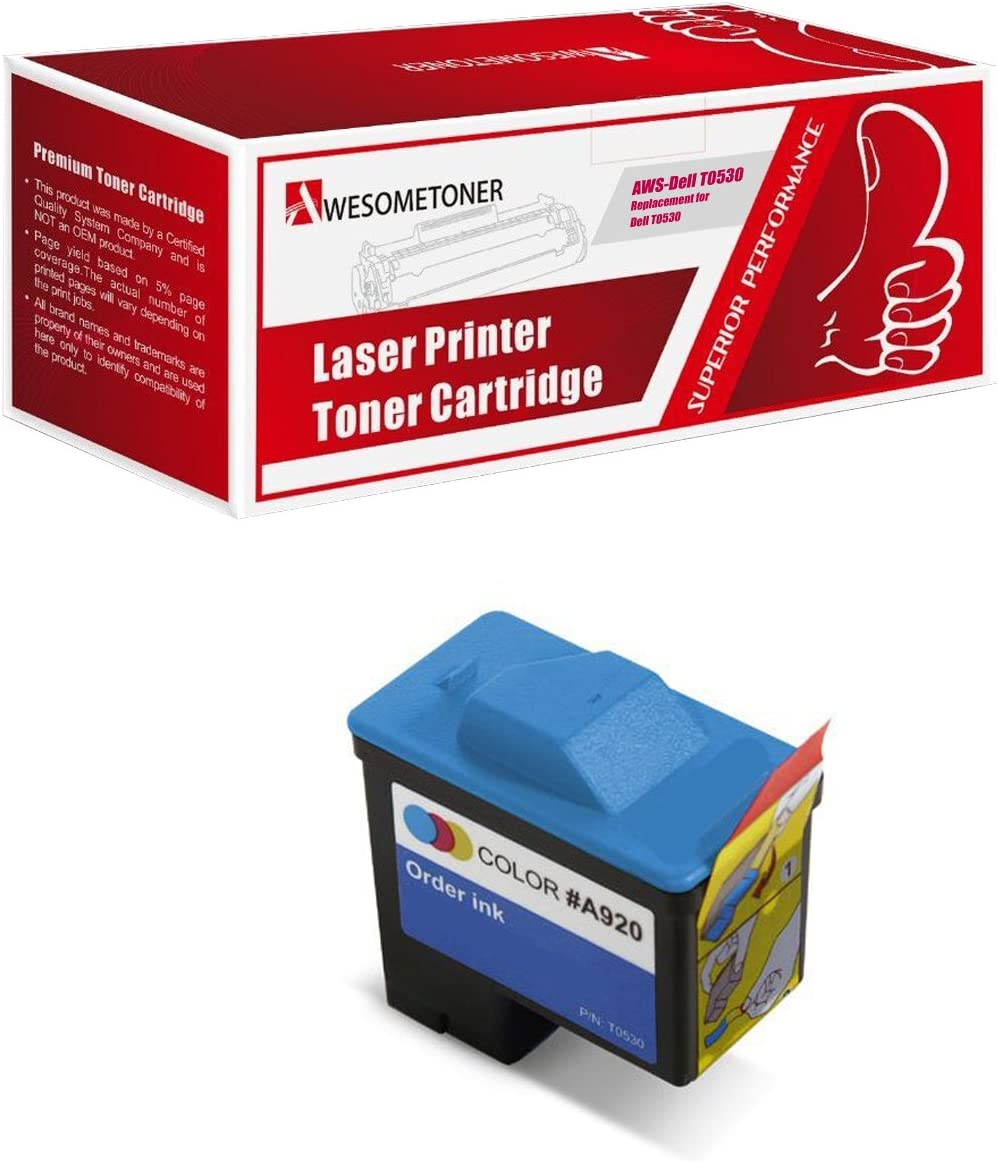 Awesometoner Dell T0530 1 Standard Capacity Color Ink Cartridge for A920/720