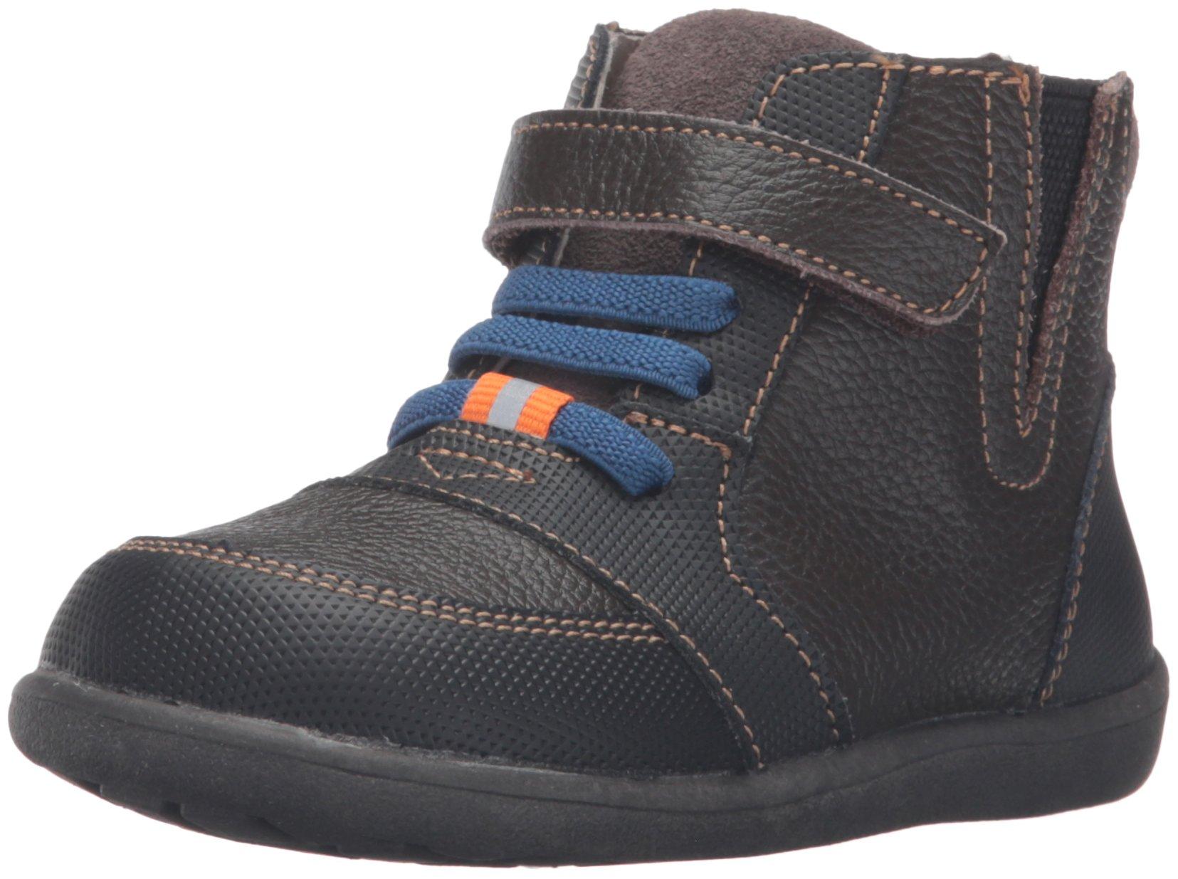 See Kai Run Ian Leather Boot (Toddler/Little Kid), Brown, 11.5 M US Little Kid